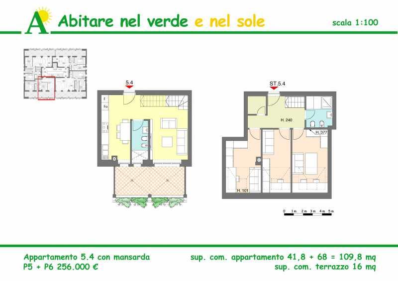 attico mansarda in vendita ad agrate brianza via la malfa foto2-81415683